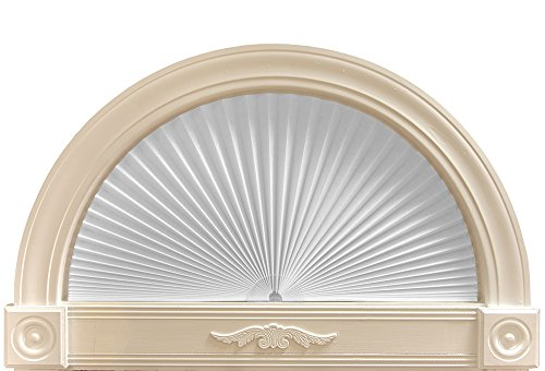 "Original Arch Light Filtering Pleated Paper Shade White, 72"" x - Fan Shade"