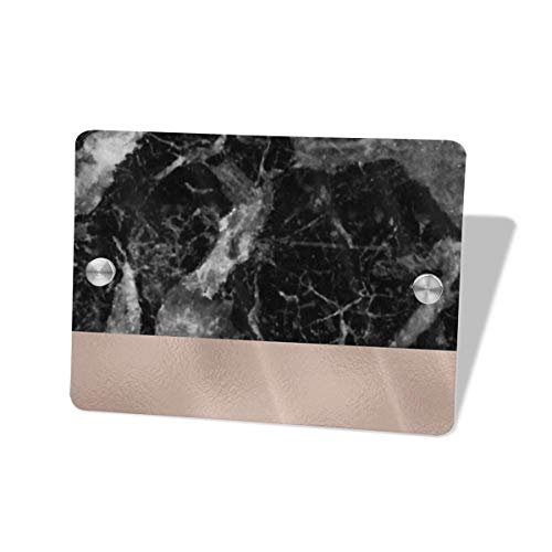Hucuery Commission Monaco Marble 5.57.5 in Square Doorplate£¬Square House Decoration, Custom Personality Slogan, Office Meeting Sign