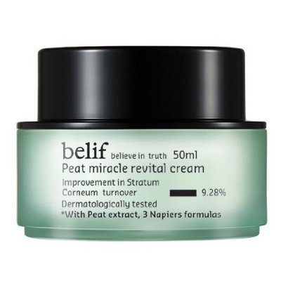belif, Peat Miracle revital Cream (50ml, intensive Care Cream, elasticity, Nutrition, Skin Balancing)