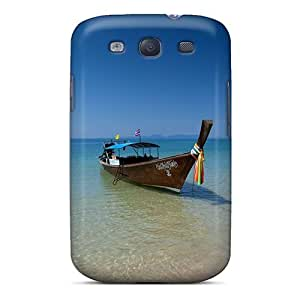 For Galaxy Case, High Quality Beach Boats Seascapes For Galaxy S3 Cover Cases
