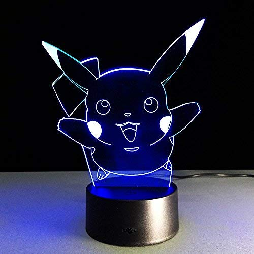 toyofmine 3D Night Light LED Toy Lamp Action Figue 7 Colorful Change Kids Gift Birthday Halloween Xmas Celebrity -