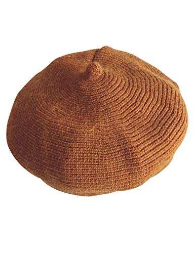 - Bestgift Baby's Knit Headwear Dome Everyday Dome Beret Cap Caramel One Size