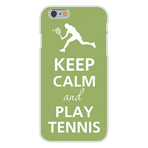 Apple iPhone 6+ (Plus) Custom Case White Plastic Snap On - Keep Calm and Play Tennis Player