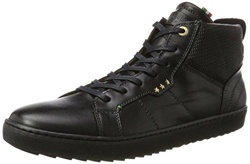 Pantofola dOro Herren Canaverse Uomo Mid Hohe Sneaker Schwarz (Triple Black)