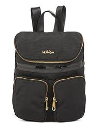Kipling Carter Backpack 12 Piece, Black Patent Combo, One Size