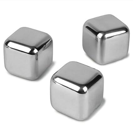 Compra Cubos Hielo Metal Pack de 6 Reusables Enfriadores ...