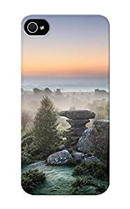Ideal Summerlemond Diy For SamSung Galaxy S4 Case Cover (landscapes Nature Trees Rocks Fog ), Protective Stylish Case