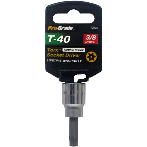 (Pro-Grade 12939 3/8-Inch Drive with T40 Tamper Proof Torx Socket)