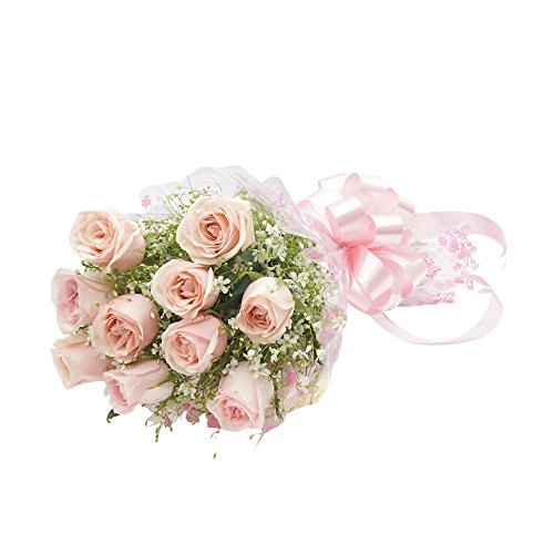 FloraIndia Pink Roses Bunch (Bunch of 10)