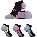 No Show Athletic Running Socks for Women Low Cut Performance Soft Cushion 6 Sets