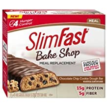 Slimfast Meal Replacement Hunger Control Bake Shop Cookie Dough Bar 1.59 oz-Pack of 20