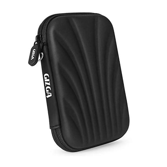 Gizga Essentials 2.5-inch Hardshell Hard Drive Disk Case (Black)