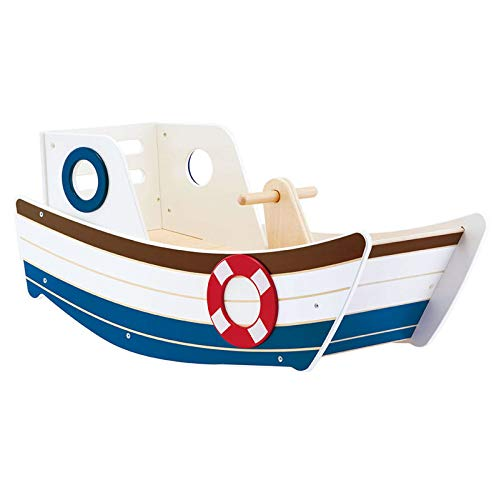 - MRT SUPPLY High Seas Early Explorer Wooden Rocker Rocking Ride On Toddler Toy Boat with Ebook