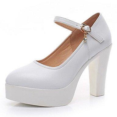 Gros Soirée Chaussures à Noir12 formelles black Talons Evénement Printemps cm Automne Cuir Femme formelles Chaussures Blanc Talon LvYuan ggx Chaussures amp; vwnxUqn4Z