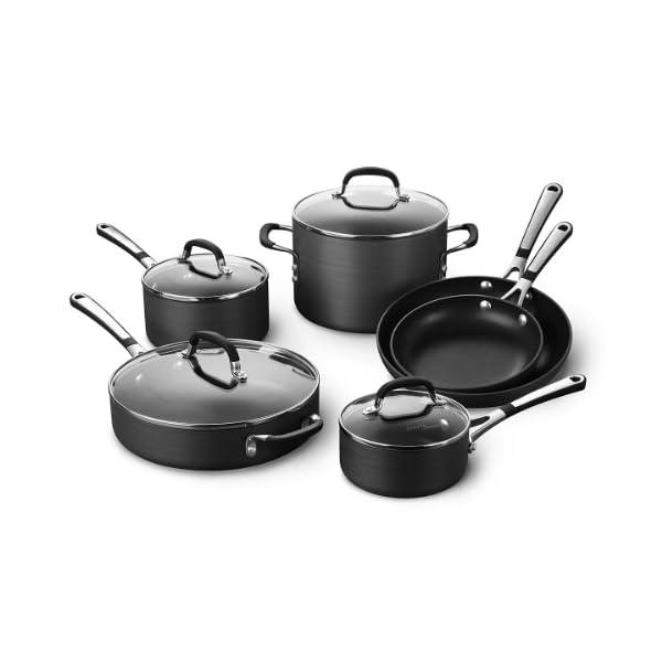 Calphalon Simply Pots and Pans Set, 10 Piece Cookware Set, Nonstick 1