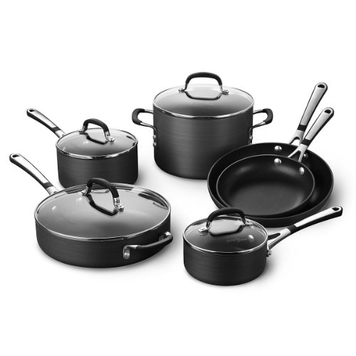 10 Pan Omelet Covered (Simply Calphalon Nonstick 10 Piece Cookware Set (SA10H))