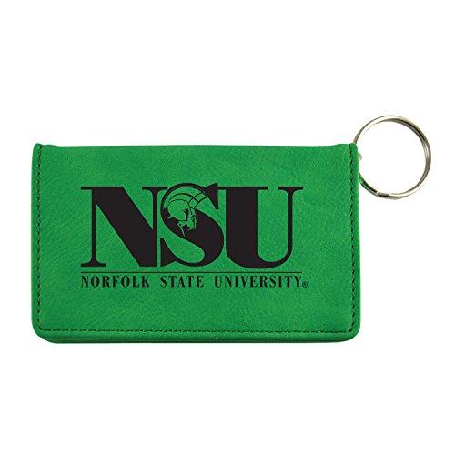 Velour ID Holder-Norfolk State University-Green