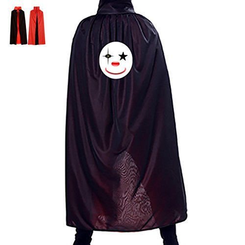 Clown Mask Halloween Cloak Cape Party Cosplay Long Reversible Adult Death Unisex