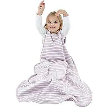 Woolino Toddler Sleeping Bag, 4 Season, Merino Wool Baby Wearable Blanket, 2-4 Years, Dream (Lilac Gray)