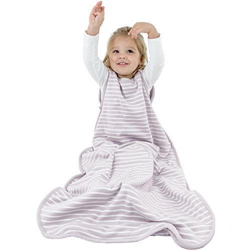 Woolino Toddler Sleeping Bag, 4 Season, Merino Wool Baby Wearable Blanket, 2-4 Years, Dream (Lilac Gray) by Woolino