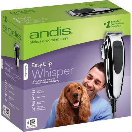 Andis EasyClip Whisper Super Deluxe Pet Clipper Kit (12 Pieces) by Andis