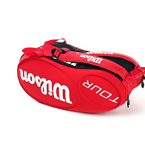Wilson Tour Molded (9-Pack) Tennis Bag (Red) by Wilson (Image #5)