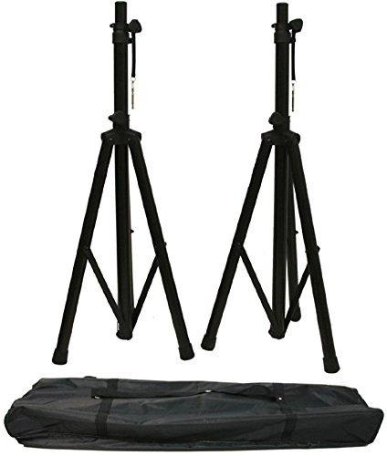 - Strukture Promo Speaker Stand Pack - 2 Heavy Duty Steel Stands w/ Nylon Carry Bag