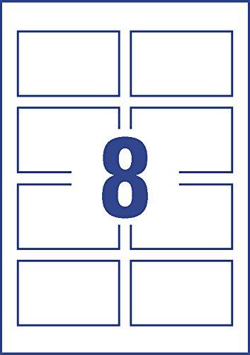 Pack de 10 folios de tarjetas de visita color blanco Avery Espa/ña C32015-10E 85 x 54 mm