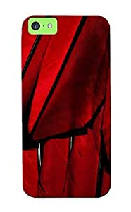 Iphone 5c Case, Premium Protective Case With Awesome Look - Red Feathers(gift For Christmas)