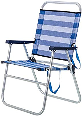 Silla de Playa Plegable Azul de Aluminio de 57x50x88 cm - LOLAhome ...