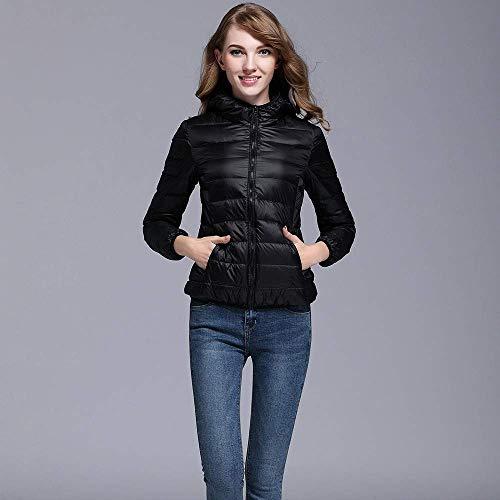 Randonnée Fonctionnel Schwarz Pluie Capuche Chaud Vêtements Ultralight Style Solide Extérieur Vent Veste Rembourré Femme Vent Puff Avec 7OOwa5q