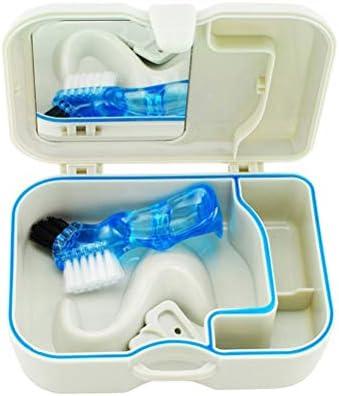 SUPVOX Estuche para dentadura Caja para Ortodoncia Protesis Dental Dentadura Postiza Estuche para Retenedores Dentales con espejo (Blanco): Amazon.es: Salud y cuidado personal