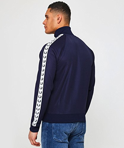 Laurel Track Jacket Nastro Blu Carbone Perry Fred Da qwPIIE