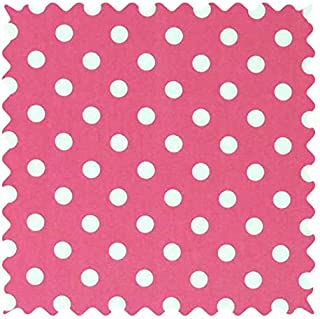 product image for SheetWorld 100% Cotton Percale Fabric by The Yard, Polka Dots Pink, 36 x 44