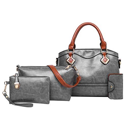 Set Borsa Bags 3 Classic Grigio Tracolla Elegante a Dexinx Bella Borsa pezzi Chiaro Giovani Signore Tote wPnxwIYOH