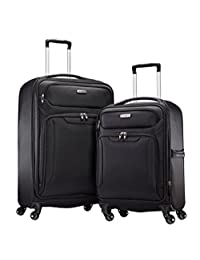 Samsonite Ultralite Extreme 2 Piece Softside Spinner 4 Wheel Luggage Set (Black)