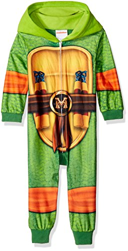 Ninja Turtle Costumes For Toddlers (Nickelodeon Little Boys' Toddler Ninja Turtles Uniform Union Suit, Green, 4T)