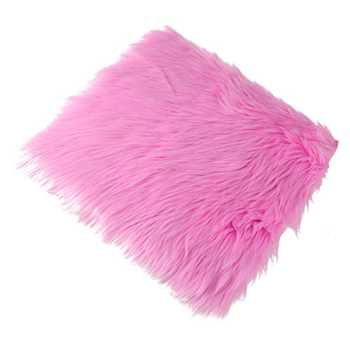VORCOOL Artificial Sheepskin Rug Floor Pillow Cushion Cotton Linen Pouf Seat Cushion Yoga Window Home Office Chair Pad 4040cm (14)
