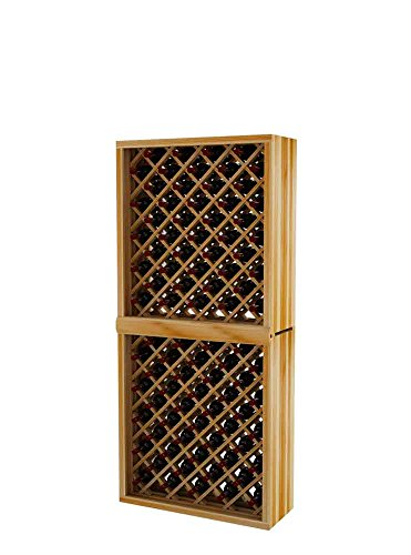 (Vintner Series Wine Rack - Individual Diamond Bin - 6 Ft - Premium Redwood with Unstained)