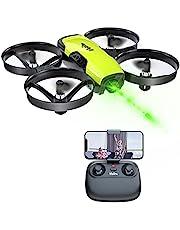 Loolinn | Drone met Camera voor Kinderen - Mini-drone Quadcopter Afstandsbestuurbaar met Aanpasbare Camera, FPV Real-time Transmissie Foto's en Video's, Beveiligingen, Inclusief Drie Batterijen (Geschenkidee)