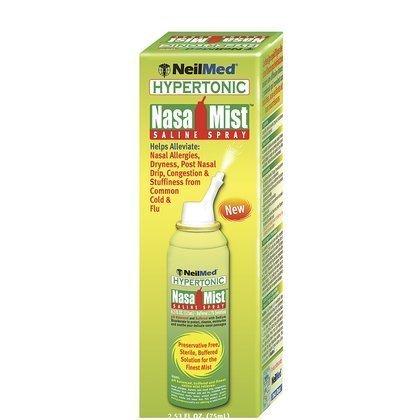Neilmed Nasamist Hypertonic Saline Spray 4.2oz ( Pack 2 ) by NeilMed