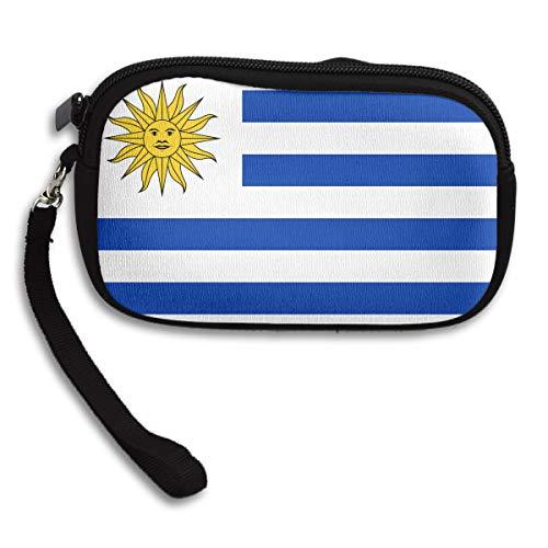 (Coin Purse Uruguay Flag Zipper Wallet Mini Wristlet Cash Phone Holder Change Pouch)