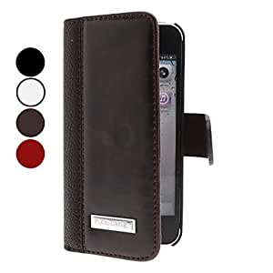 JOEElegant Design PU Leather Full Body Case with Card Slot for iPhone 5/5S (Assorted Colors) , Red