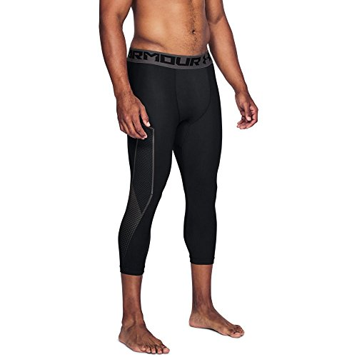 Under Armour Men's HeatGear Armour Graphic ¾ Leggings, Black (001)/Charcoal, Medium