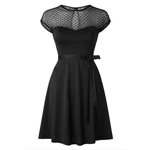 Taore Women's Classy Audrey Hepburn 1950s Vintage Rockabilly Swing Dress (S, Black) Audrey Tank