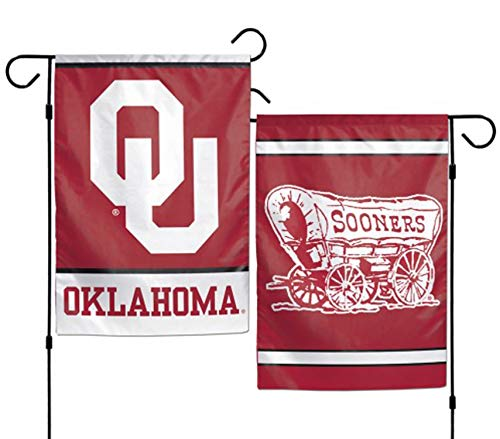 "WinCraft Oklahoma Sooners 12""x18"" Garden Flag - red"