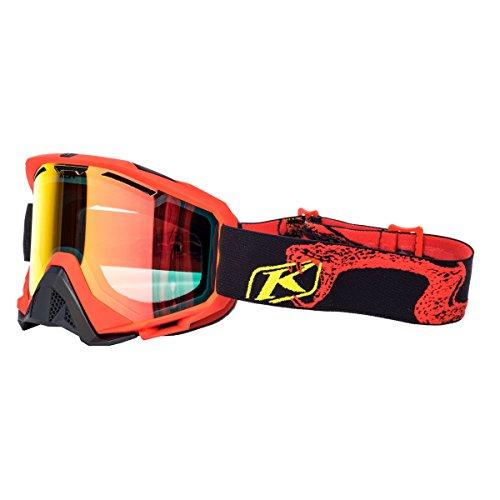 Klim Radius Adult Snow Snowmobile Goggles Eyewear - Rattler Red Smoke Red Mirror / One Size