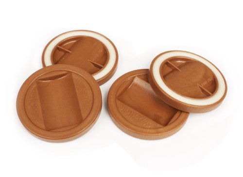Slipstick CB840 3-1/4 Inch Bed Roller / Furniture Wheel Gripper Caster Cups (Set of 4) Caramel Color