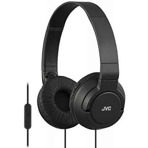 Jvc Headset - JVC HA-SR185 Lightweight Foldable Headphones with Remote (Black)