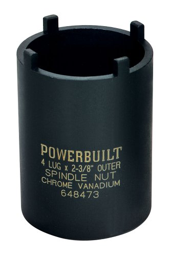 Powerbuilt Spindle Nut Socket 4 Lugs Chevy, GMC, Dodge & Ford - 648473 ()